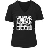 Limited Edition - Feel safe at night sleep with a bodybuiler-T-shirt-Spyder Deals
