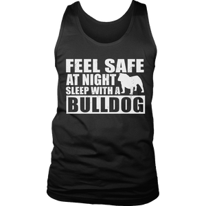 Limited Edition - Feel safe at night sleep with a bulldog-T-shirt-Spyder Deals