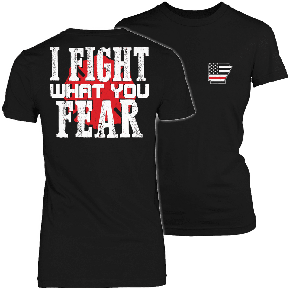 Limited Edition Firefighters - I fight what you fear Arkansas Brotherhood-T-shirt-Spyder Deals