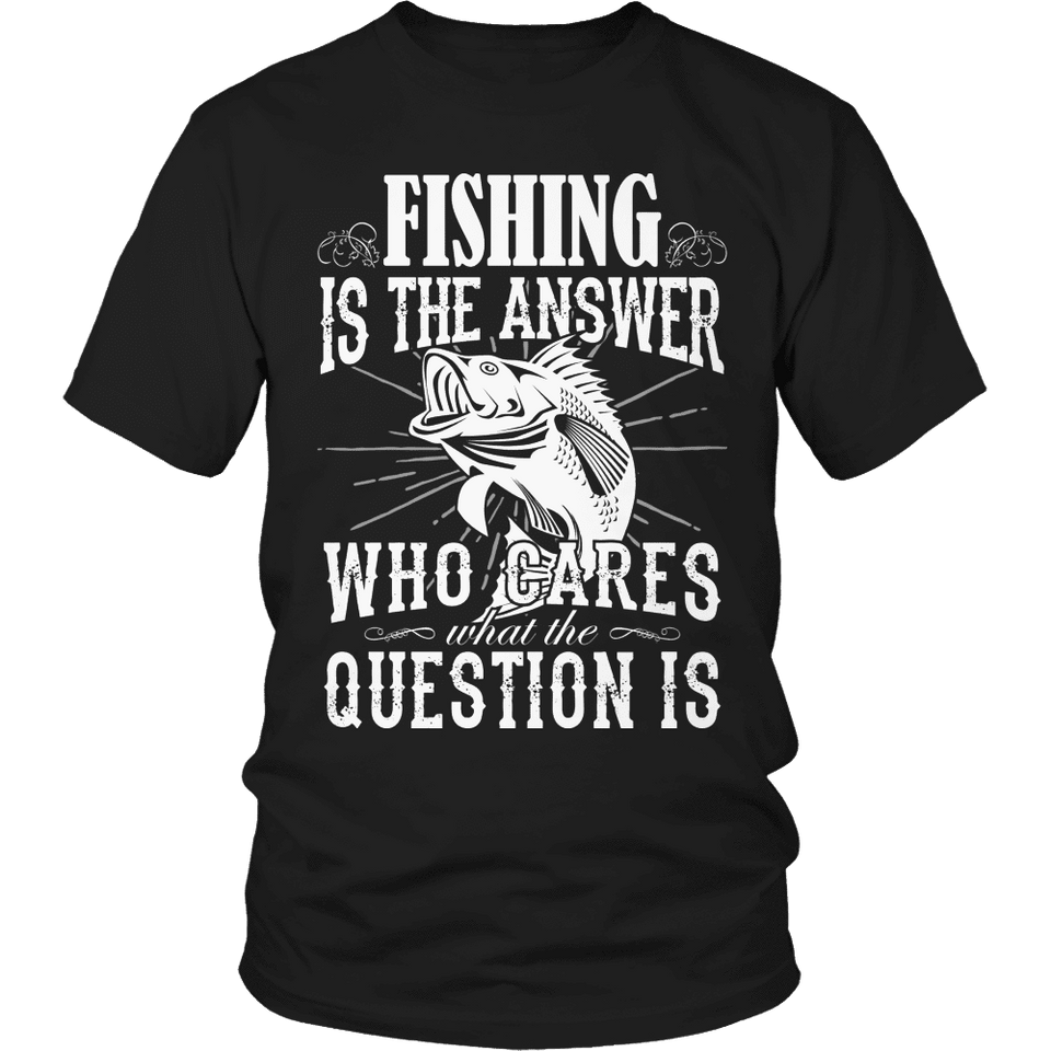 Limited Edition - Fishing is The Answer-T-shirt-Spyder Deals