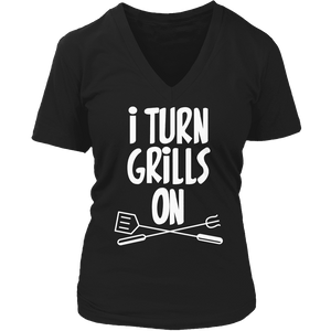 Limited Edition - I Turn Grills On-T-shirt-Spyder Deals