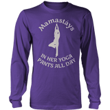 Limited Edition - Mamastays In Her Yoga Pants All Day-T-shirt-Spyder Deals