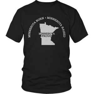 Limited Edition - Minnesota Born Minnesota Raised Minnesota Proud-T-shirt-Spyder Deals