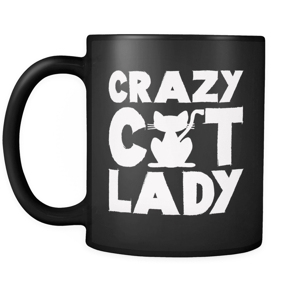 Limited Edition Mug - Crazy Cat Lady-Drinkware-Spyder Deals