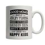 Limited Edition Mug - GOOD MOMS HAVE STICKY FLOORS-Drinkwear-Spyder Deals