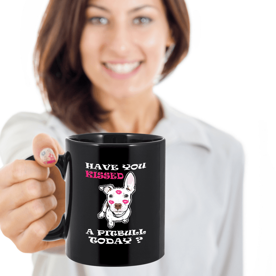 Limited Edition Mug - Kiss A Pitbull-Drinkware-Spyder Deals
