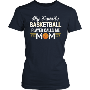 Limited Edition - My Favorite Basketball Player Calls Me Mom-T-shirt-Spyder Deals