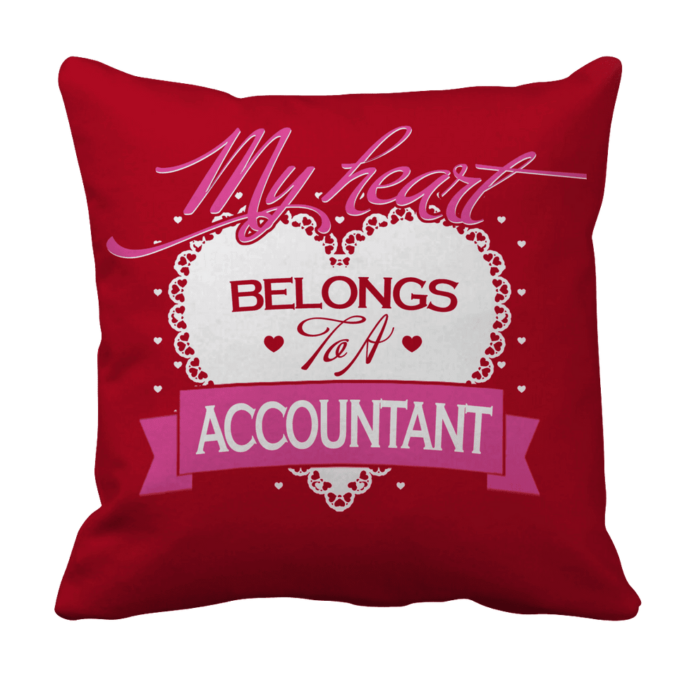 Limited Edition - My Heart Belongs to A Accountant-Pillow Cases-Spyder Deals