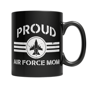 Limited Edition - Proud Air Force Mom-11oz Black Mug-Spyder Deals
