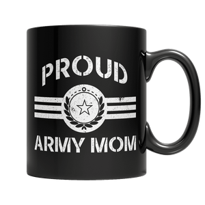 Limited Edition - Proud Army Mom-11oz Black Mug-Spyder Deals