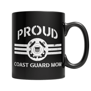 Limited Edition - Proud Coast Guard Mom-11oz Black Mug-Spyder Deals