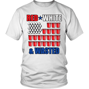 Limited Edition - Red White & Wasted-T-shirt-Spyder Deals