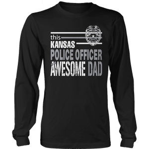Limited Edition - This Kansas Police Officer Is An Awesome Dad-T-shirt-Spyder Deals