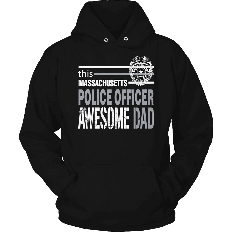 Limited Edition - This Massachusetts Police Officer Is An Awesome Dad-T-shirt-Spyder Deals
