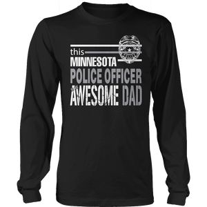 Limited Edition - This Minnesota Police Officer Is An Awesome Dad-T-shirt-Spyder Deals