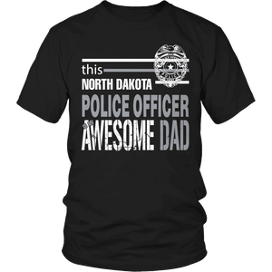 Limited Edition - This North Dakota Police Officer Is An Awesome Dad-T-shirt-Spyder Deals