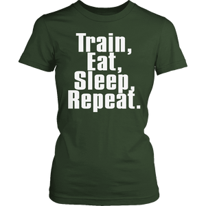 Limited Edition - Train Eat Sleep Repeat-T-shirt-Spyder Deals