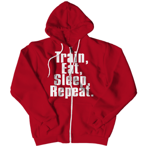 Limited Edition - Train,Eat,Sleep, Repeat-Zipper Hoodie-Spyder Deals