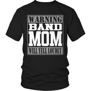 Limited Edition - Warning Band Mom will Yell Loudly-T-shirt-Spyder Deals