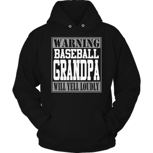Limited Edition - Warning Baseball Grandpa will Yell Loudly-T-shirt-Spyder Deals