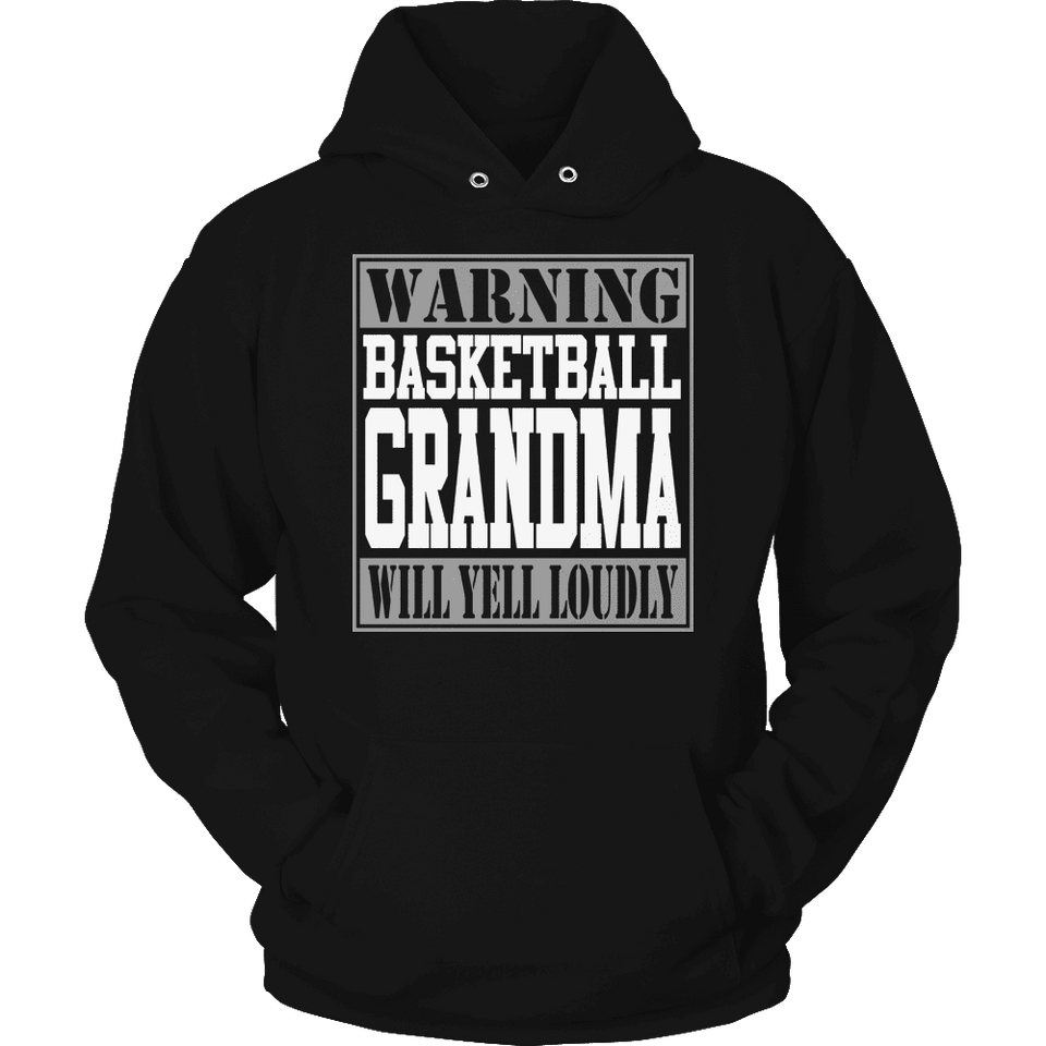 Limited Edition - Warning Basketball Grandma will Yell Loudly-T-shirt-Spyder Deals