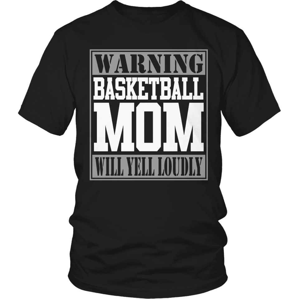 Limited Edition - Warning Basketball Mom will Yell Loudly-T-shirt-Spyder Deals