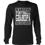 Limited Edition - Warning Football Grandpa will Yell Loudly-T-shirt-Spyder Deals