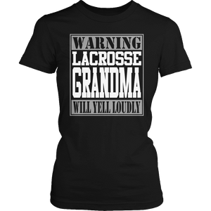 Limited Edition - Warning Lacrosse Grandma will Yell Loudly-T-shirt-Spyder Deals