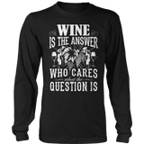 Limited Edition - Wine is The Answer-T-shirt-Spyder Deals