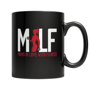 MILF Moms In Love With Fitness-11oz Black Mug-Spyder Deals