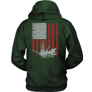 Oil Driller Hoodie - Oil Rig Flag