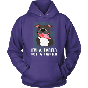 Pit Bull Hoodie - I'm A Farter Not A Fighter