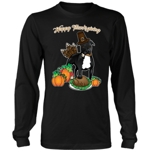 Pit Bull Longsleeve | Unisex - Happy Thanksgiving