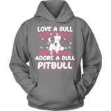 Pitbull Hoodie - Love-A-Bull-T-shirt-Spyder Deals