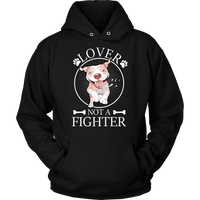 Pitbull Hoodie - Lover Not A Fighter-T-shirt-Spyder Deals