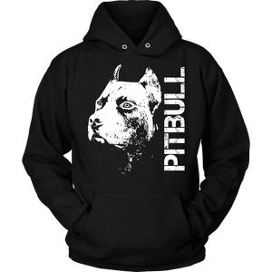 Pitbull Hoodie - Pitbull Face-T-shirt-Spyder Deals
