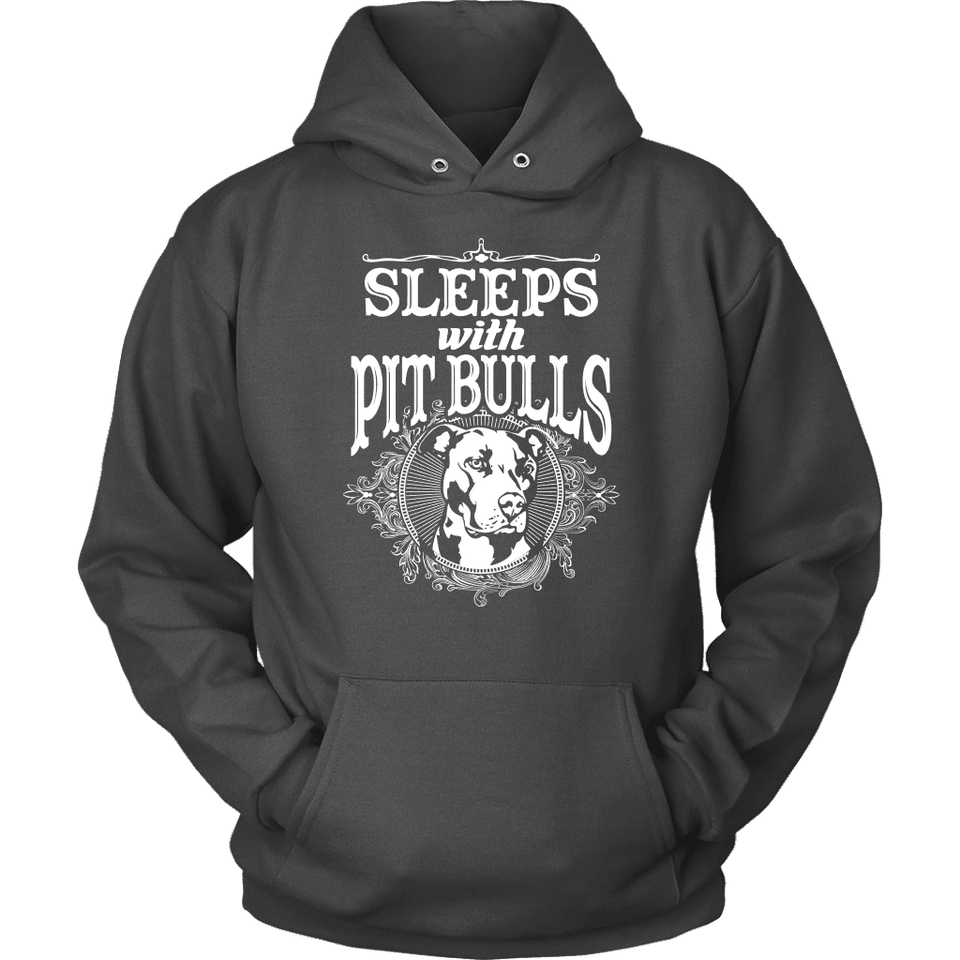 Pitbull Hoodie - Sleeps With Pit Bulls