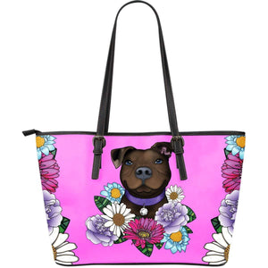Pitbull Leather Tote Bag | Large - Brown Pit Bull-Large Leather Tote-Spyder Deals