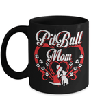 Pitbull Mug | Black - Pit Bull Mom-Coffee Mug-Spyder Deals