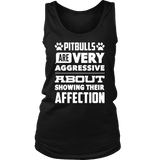 Pitbull Shirt - Pitbulls Are Very Aggressive About Showing Their Affection-T-shirt-Spyder Deals