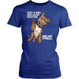 Pitbull Shirt | Womens - Just A Girl Who Loves Coffee And Her Pitbull Offer-T-shirt-Spyder Deals