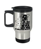 Pitbull Travel Mug - Three Things You Should Never Mess With-Travel Mug-Spyder Deals