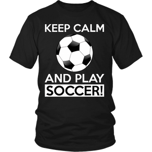 Soccer Shirt - Keep Calm and Play Soccer-T-shirt-Spyder Deals