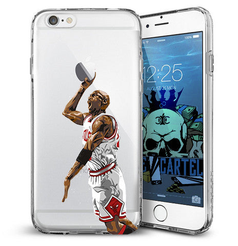 big sale 27102 93a41 Air Jordan Dunking White iPhone Case