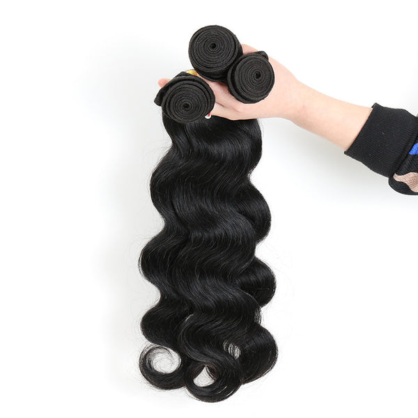 Woman Holding Hair Weave