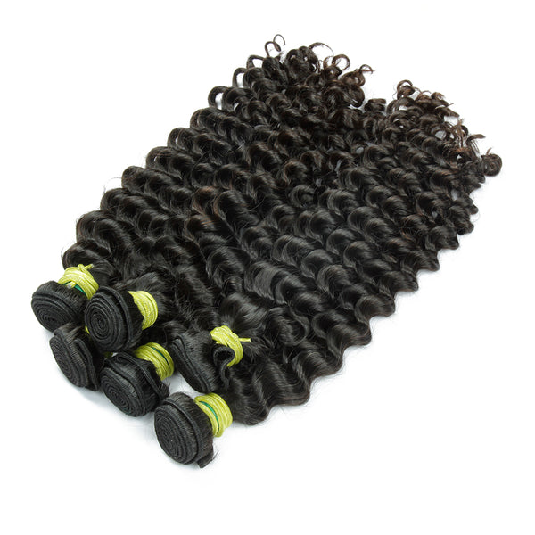 Kinky Curly Weaves Remy Human Hair Weave Extensions For Black Woman