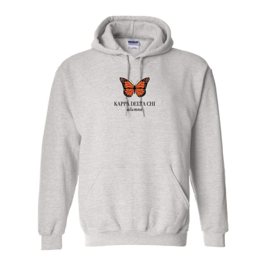Ali & Ariel Alumna Embroidered Butterfly Hoodie <br> (sororities G-Z) Kappa Delta Chi / Small