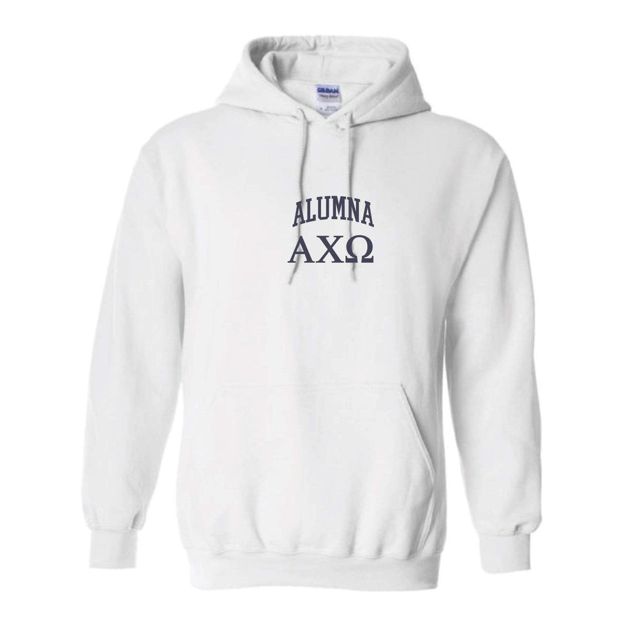 Ali & Ariel Alumna Embroidered Collegiate Hoodie <br> (sororities A-D)