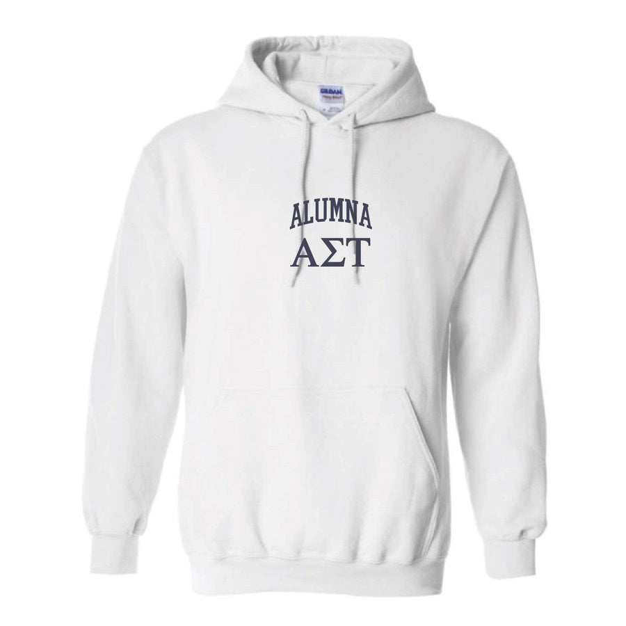 Alumna Embroidered Collegiate Hoodie <br> (sororities A-D)