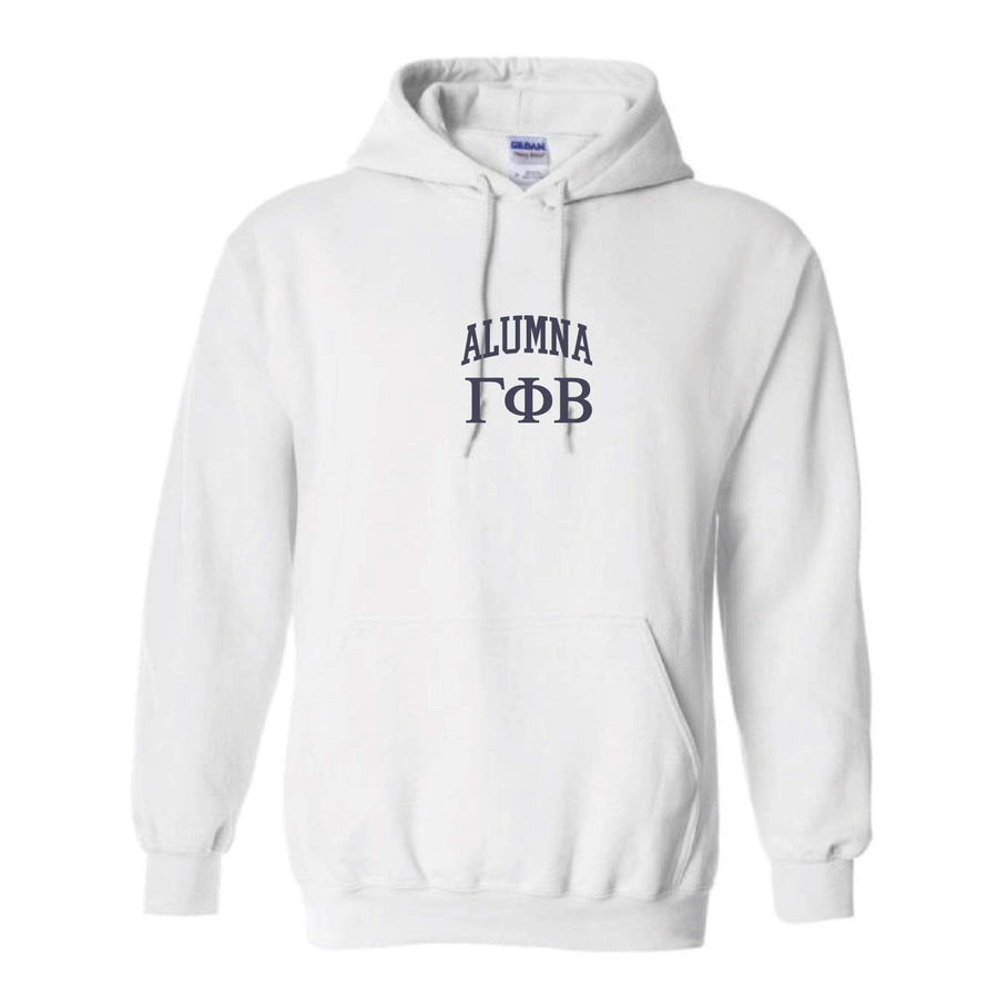 Ali & Ariel Alumna Embroidered Collegiate Hoodie <br> (sororities G-Z)